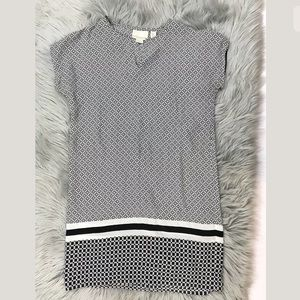 CYNTHIA ROWLEY SILK Printed CAFTAN mini dress